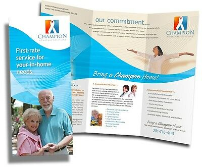 5000 Tri-Fold Glossy Brochures FULL COLOR 8 1/2 x 11 Canada Auction Only - SAVE!
