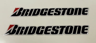 BRIDGESTONE stickers - decals - 2 x  HIGH Gloss Gel Finish 150mm - Motorcycling