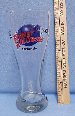 "Collectable Planet Hollywood Orlando Tall Pilsner Glass 8 1/2"" Tall"