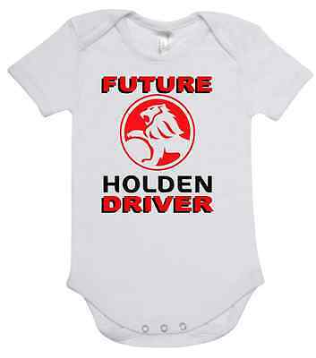 BABY ONE PIECE, ROMPER. ONESIE. printed with FUTURE HOLDEN DRIVER brand new