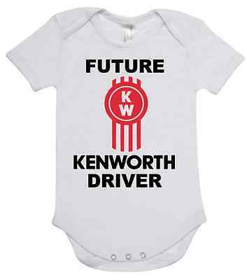 BABY ONE PIECE ROMPER printed with FUTURE KENWORTH DRIVER new 100% cotton