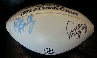 Peyton & Archie Manning #1 Pick Dual-Signed Football 191/250 Verigraph Auto COA