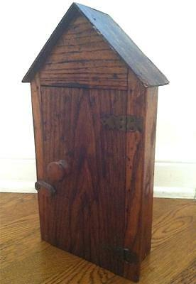 Antique Miniature Cottage Pitched Roof Display Cubby CHARMING!