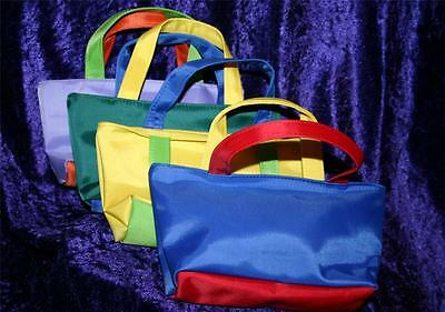 BRIGHT PRIMARY COLOURS makeup bag with handles in 5 colours small/ MEDIUM AL