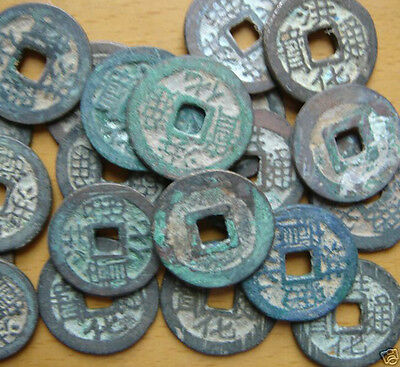 RARE 5 Pieces CHINA Ancient Coins DaZhou Dynasty  Hong-Hua Tongbao in 1679--1681