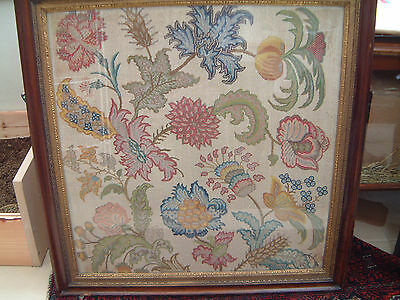 Rare English 17Th Century Needlework Panel Circa 1690 Stumpwork Embroidery