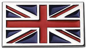 High Quality Self Adhesive Exterior & Interior Chrome Union Jack Badge Emblem