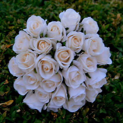 1X Cream Ivory Rose Roses Wedding Bouquet Artificial Silk Posy Flower 26 Heads