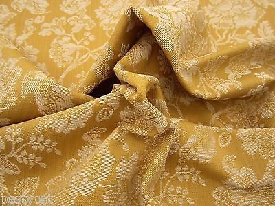 3 1/2 yards Textured Floral Upholstery Fabric r9187