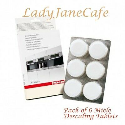 ONE PACK OF 6 MIELE DESCALE, DESCALING TABLETS, MIELE - 5626050 Free Delivery UK
