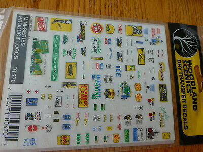 Woodland Scenics Dry Transfer Decals #DT570 Mini-Series Product Logos
