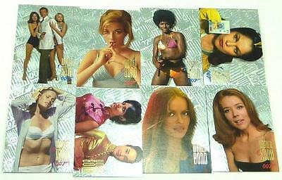Lot of 8 Women of Bond Girls Chase Cards James Bond 007 Inkworks Connoisseur Set
