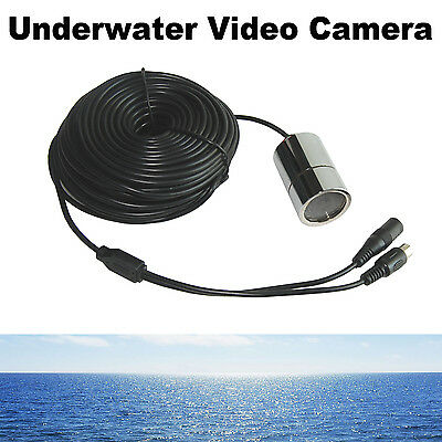 20m Color Underwater Video Camera  With 4 Illum LEDs 600TVL Wide Angle