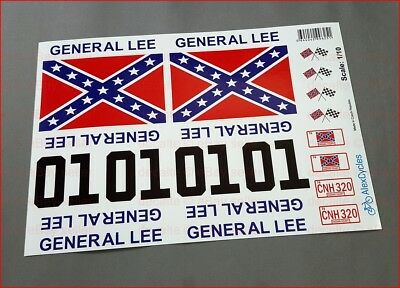 GENERAL LEE RC Car 1/10 Scale Decals Stickers Duke of Hazzard Set already cut