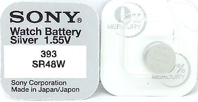 Sony 393 Sr48W Sr754W V393 D393 255 F Sb-B3 Sr754W Sr48 Watch Battery