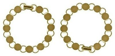 10 GOLD Plated BRACELET Blanks Forms ~ 11 pads for Beads ~ 7 inch Long