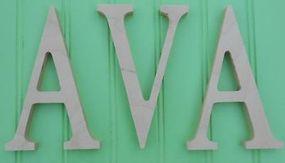 "6"" size Unpainted Nursery Wood Wall Letters  Wooden Name Child Baby $6 shipping"