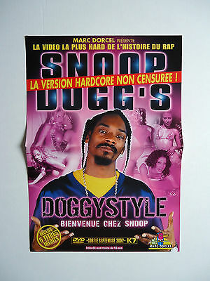 SNOOP DOGG Doggystyle French Promo Advert / Presskit Plan Média