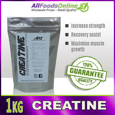 1Kg Pure Creatine Micronised Monohydrate - Unflavoured