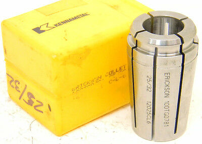 "New Surplus Kennametal Erickson 25/32"" Single Angle Tg100 Collet Tg-100 .7812"""