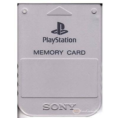 Playstation 1 Official Sony Memory Card Scph-1020 1 Mb Ps1 Ps2 Many Colours Psx