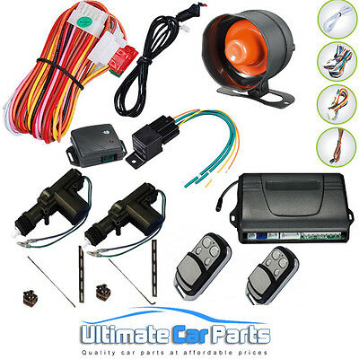 Remote Central Locking kit And Car Alarm For 2 Doors, immobiliser, Shock Sensor.