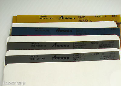 4 Sets Of Amana Microfiche Various Dates-Latest Revision  09/01  Grp 9