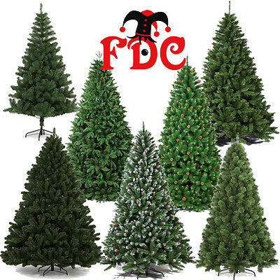 Artificial Luxury Christmas Xmas trees assorted styles 1.8m 6ft and 2.1m 7ft