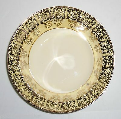 Taylor Smith Taylor Yellow W/Gold Decoration Fruit Bowl!