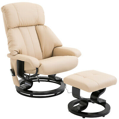 Fuax leather Electric Massage Recliner Chair Sofa Foot Stool 10 Massager Heat