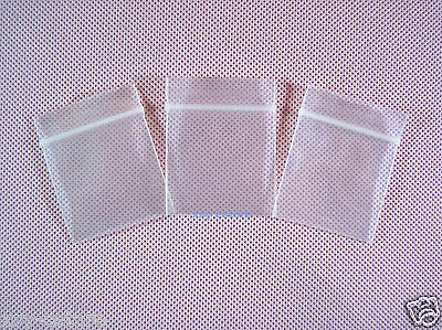 "50 Small Clear Ziplock Poly Plastic Zipper Bags 4 Mil Thick 1.5"" x 2""_40 x 50mm"