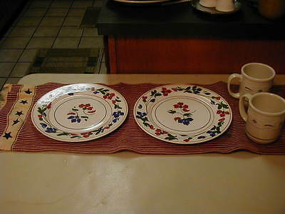 "TWO SOTHERN POTTERIES FLOWER 10"" PLATES"