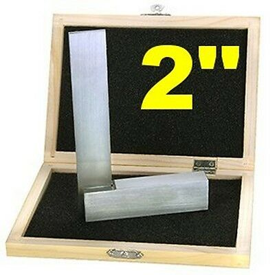 "2"" Machinist SQUARE SET PRECISION HARDENED STEEL METAL TOOL w/CASE"