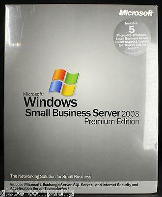 Microsoft Windows Small Business Server SBS 2003 Premium Edition 5 CAL T75-00035