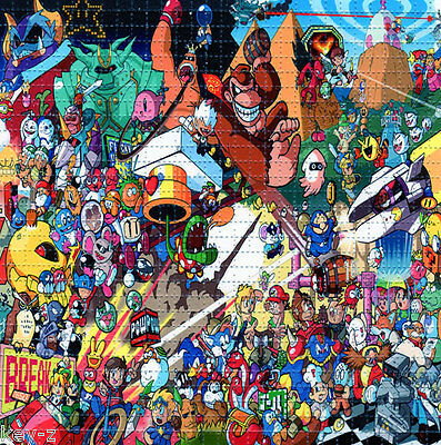 CLASSIC VIDEO GAME ICONS -  BLOTTER ART perforated psychedelic