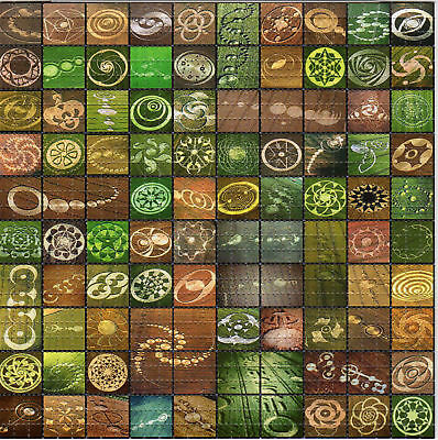 CROP CIRCLES sheet perforated psychedelic BLOTTER ART