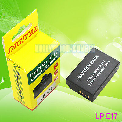 LP-E17 Battery For Canon EOS 750D 760D M3 Kiss X8i LC-E17E LC-E17 Charger