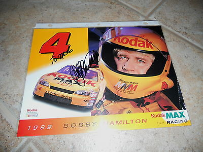 Bobby Hamilton Signed Autographed 8x10 Promo Nascar Car Racing Photo Picture #1