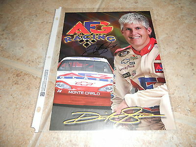 David Green Signed Autographed 8x10 Promo Nascar Car Racing Photo Picture