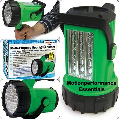 Travel, Camping, Work, Fishing Bright LED Spotlight Torch & Lantern Light Lamp