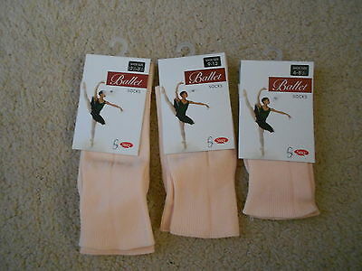 Pink Ballet Socks - starlite - Katz - Silky - all sizes