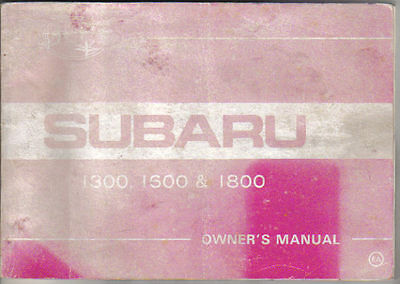 Subaru 1300 1600 1800 1980-81 Original Owners Manual (Handbook)