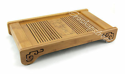 Tasteful Elegant Bamboo Chinese Gongfu Tea Table Serving tray 39.5*22.7cm L05