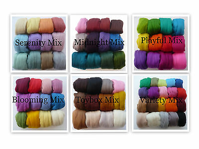 Heidifeathers® Felting Wool - 300g Merino Wool Tops / Roving - Wool Mix Packs
