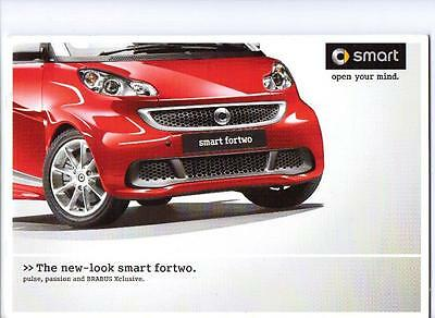 Smart Fortwo Pulse Passion & Brabus Xclusive Sales Brochure 2011 2012