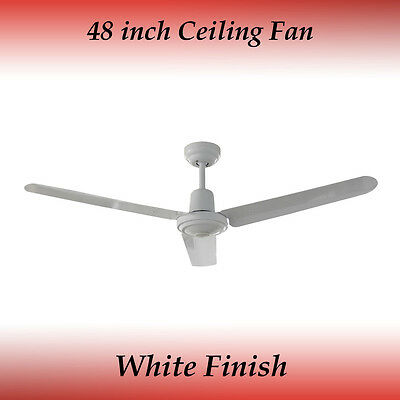 Sparky 48 inch 3 Blade White Aluminum Ceiling Fan