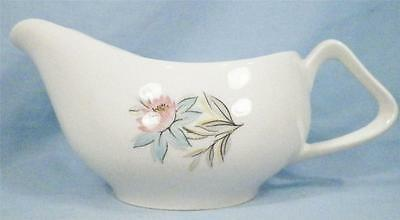 Vintage Fairlane Gravy Boat Steubenville Blue Pink Flowers Gray Leaves NICE