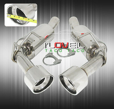 "2010-15 Chevy Camaro Rear Axleback Exhaust System Stainless Steel Dual 4.5"" Tip"