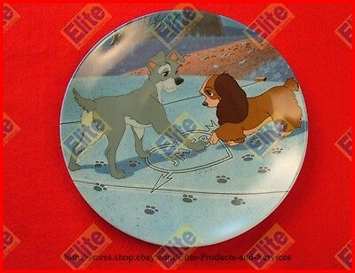"""Lady and The Tramp """"Puppy Love"""" Collectors Plate by Knowles"""