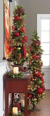 NEW Flat Prelit RAZ Imports Artificial Christmas Tree in Urn 4 feet m3008053